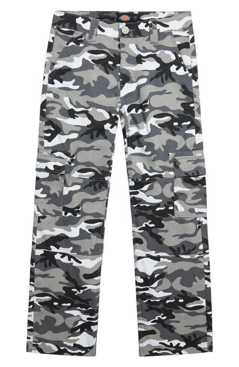 DICKIES Heritage Camo Cotton Twill Cargo Pants, Main, color, GREY CAMO