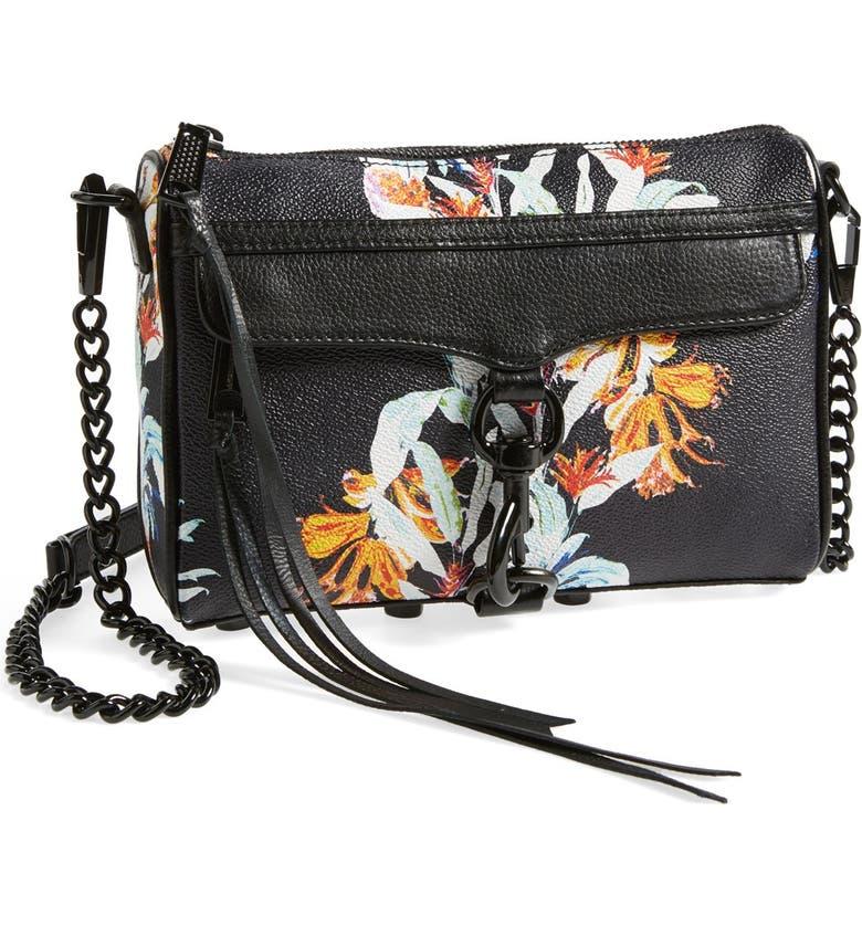 REBECCA MINKOFF 'Mini MAC' Convertible Crossbody Bag, Main, color, HAWAIIN PRINT