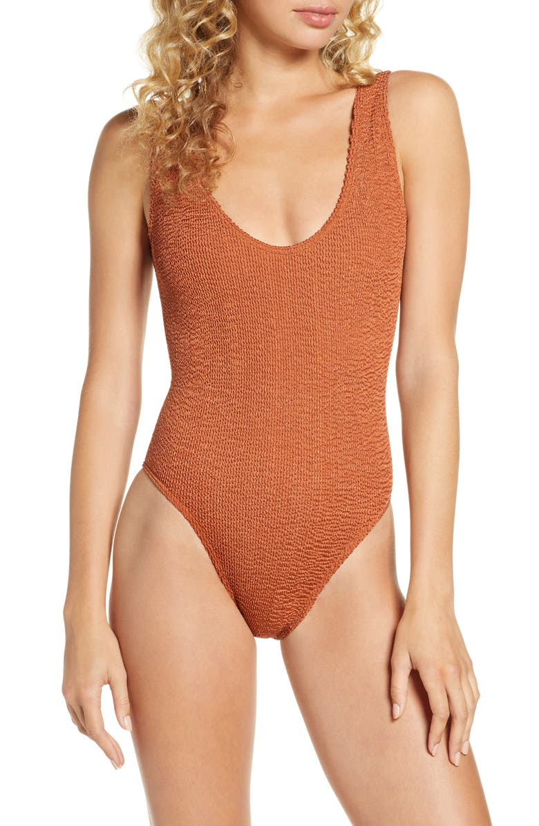 BOUND BY BOND-EYE The Mara Ribbed One-Piece Swimsuit, Main, color, 200
