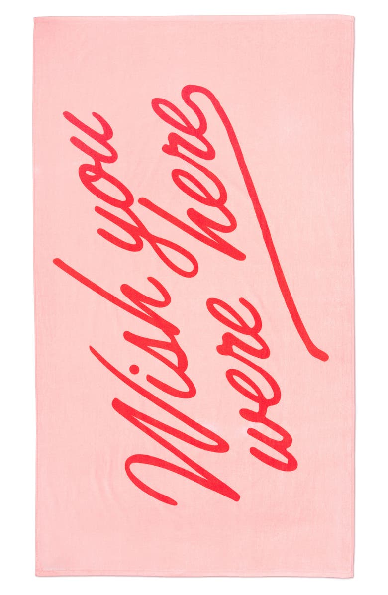 BAN.DO Wish You Were Here Towel, Main, color, 650