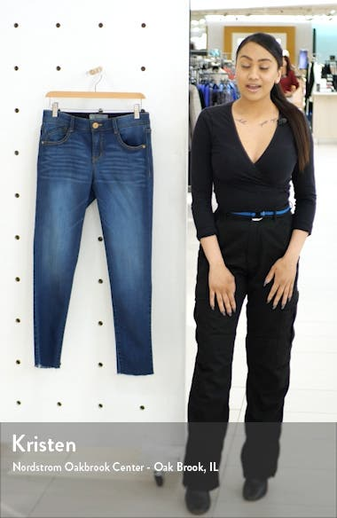 Ab-solution Raw Hem Ankle Skinny Jeans, sales video thumbnail