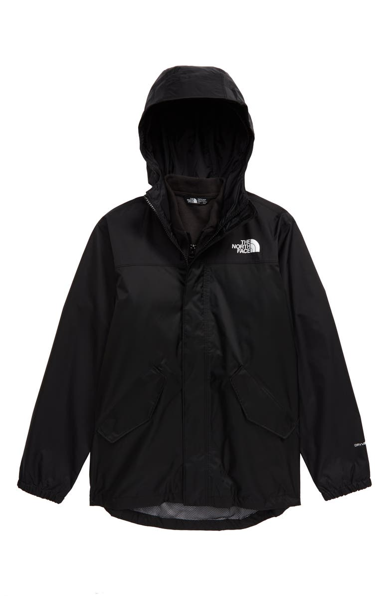 THE NORTH FACE Stormy Rain Triclimate<sup>®</sup> Waterproof 3-in-1 Jacket, Main, color, 001