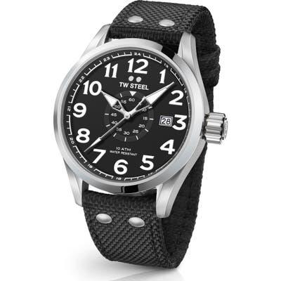 Tw Steel Volante Textile Strap Watch, 45Mm
