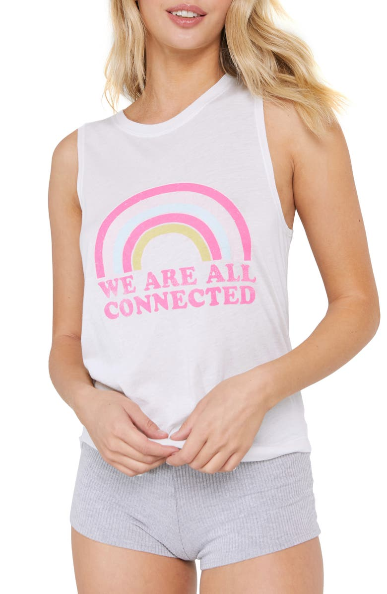 SPIRITUAL GANGSTER Connected Muscle Tank, Main, color, STONE