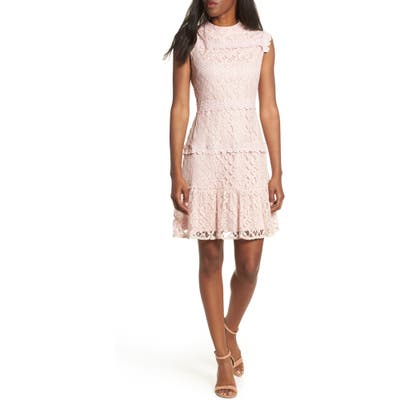 Julia Jordan Lace Sheath Dress, Pink