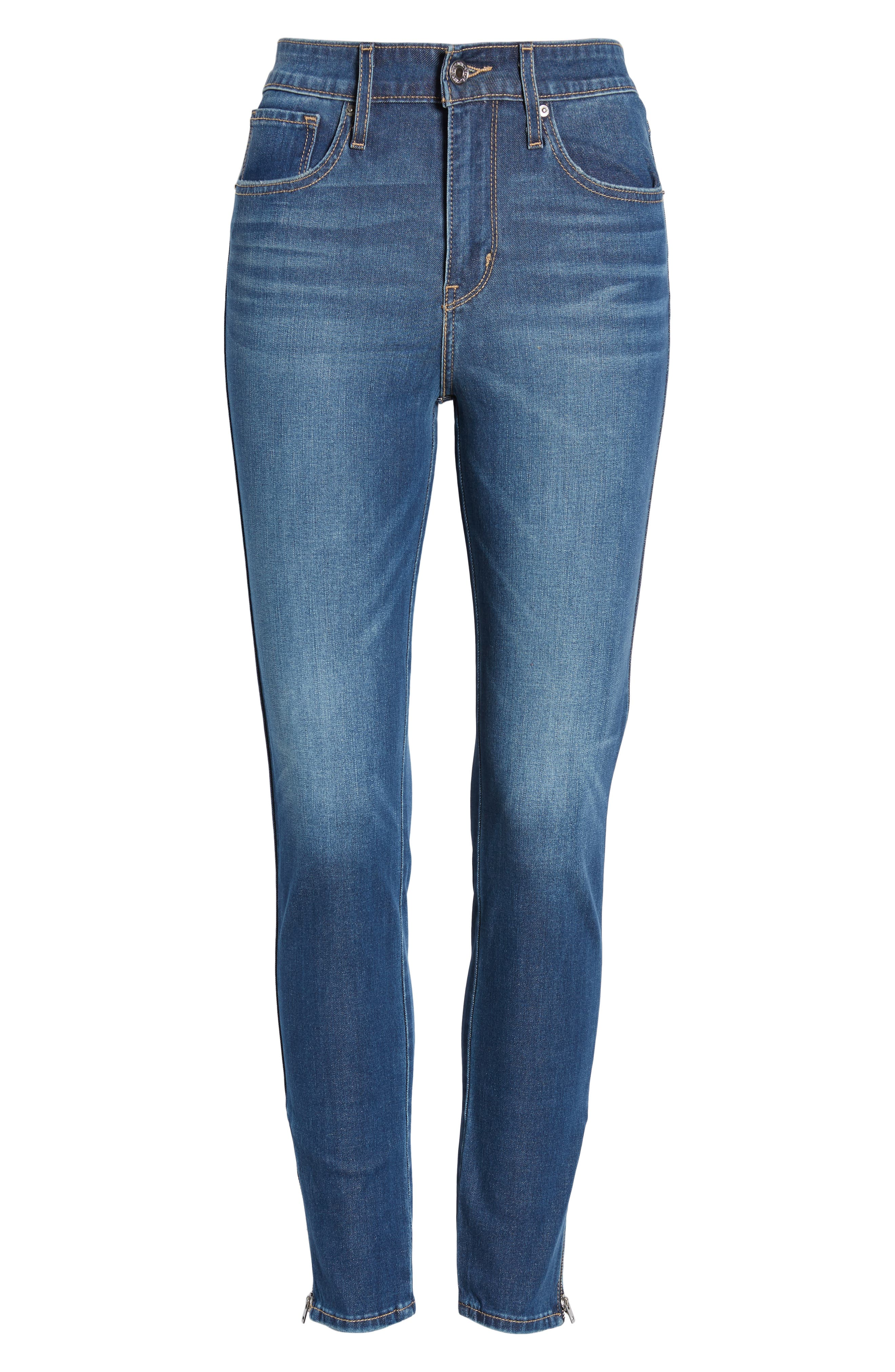 ,                             721<sup>™</sup> High Waist Ankle Zip Skinny Jeans,                             Alternate thumbnail 5, color,                             UNDER THE WIRE