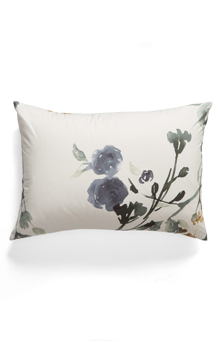 TREASURE & BOND Botanical Blur Pillow Sham, Main, color, GREY CHIME MULTI