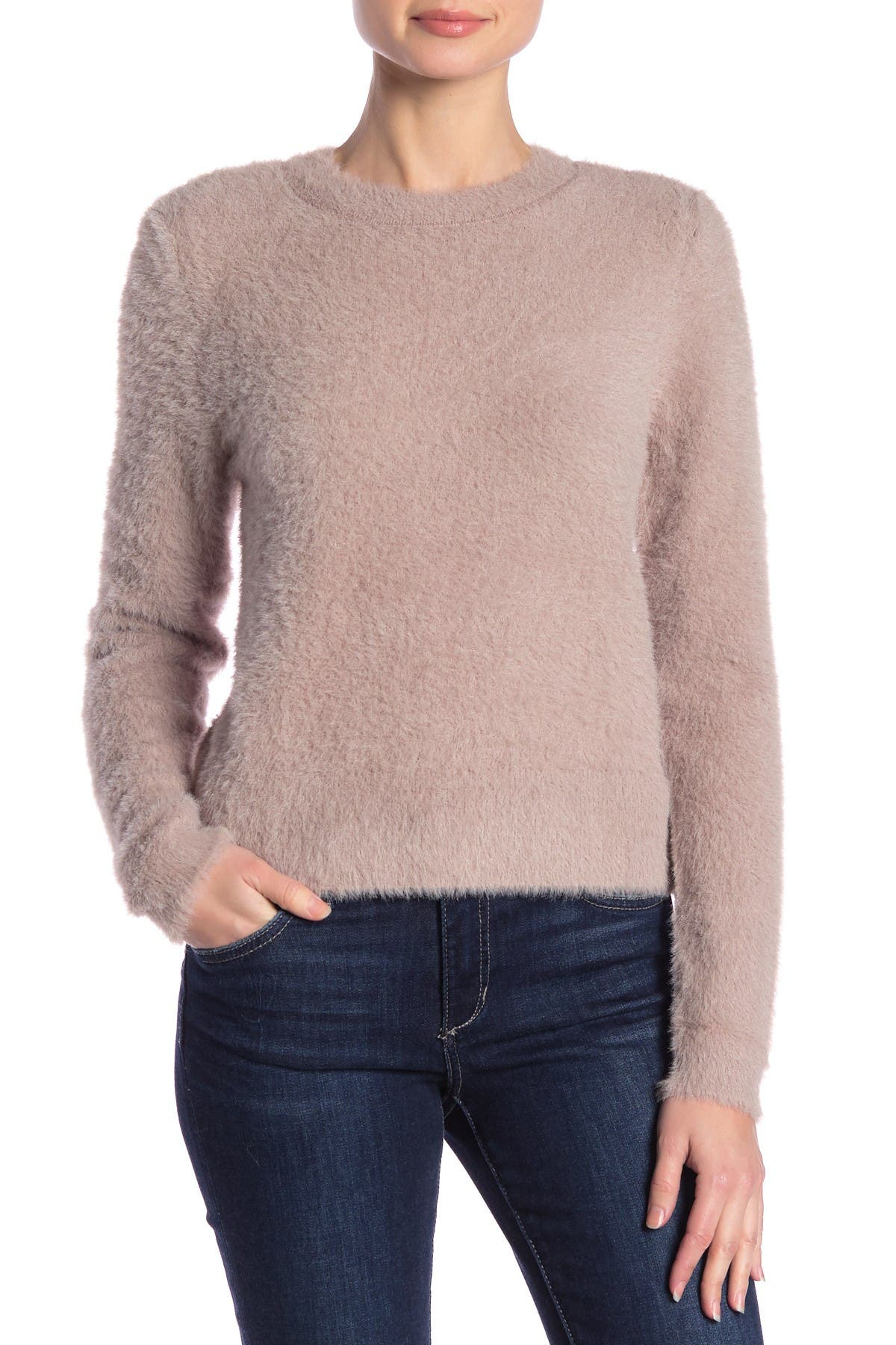 Image of Free Press Fluffy Long Sleeve Sweater