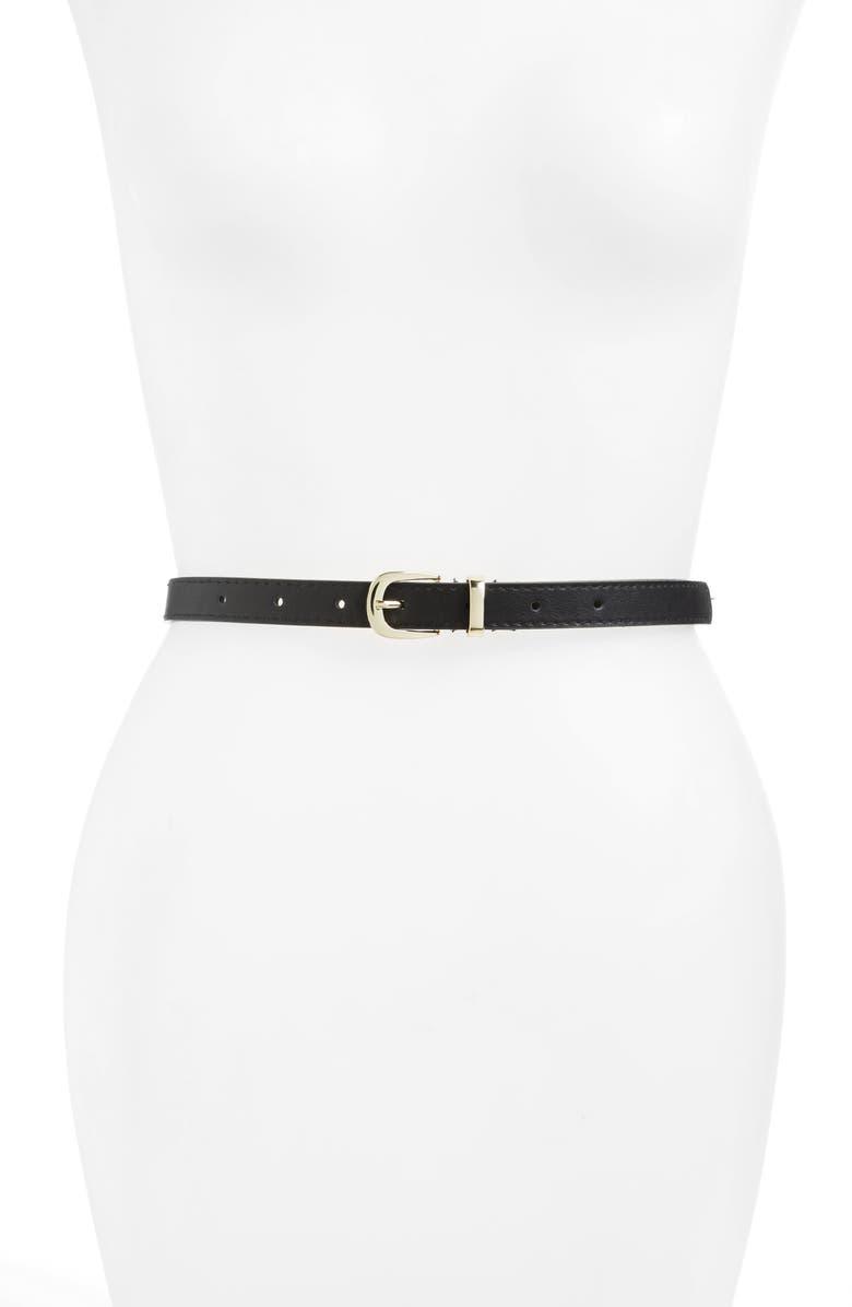 BP. 2-Pack Faux Leather Belts, Main, color, 001