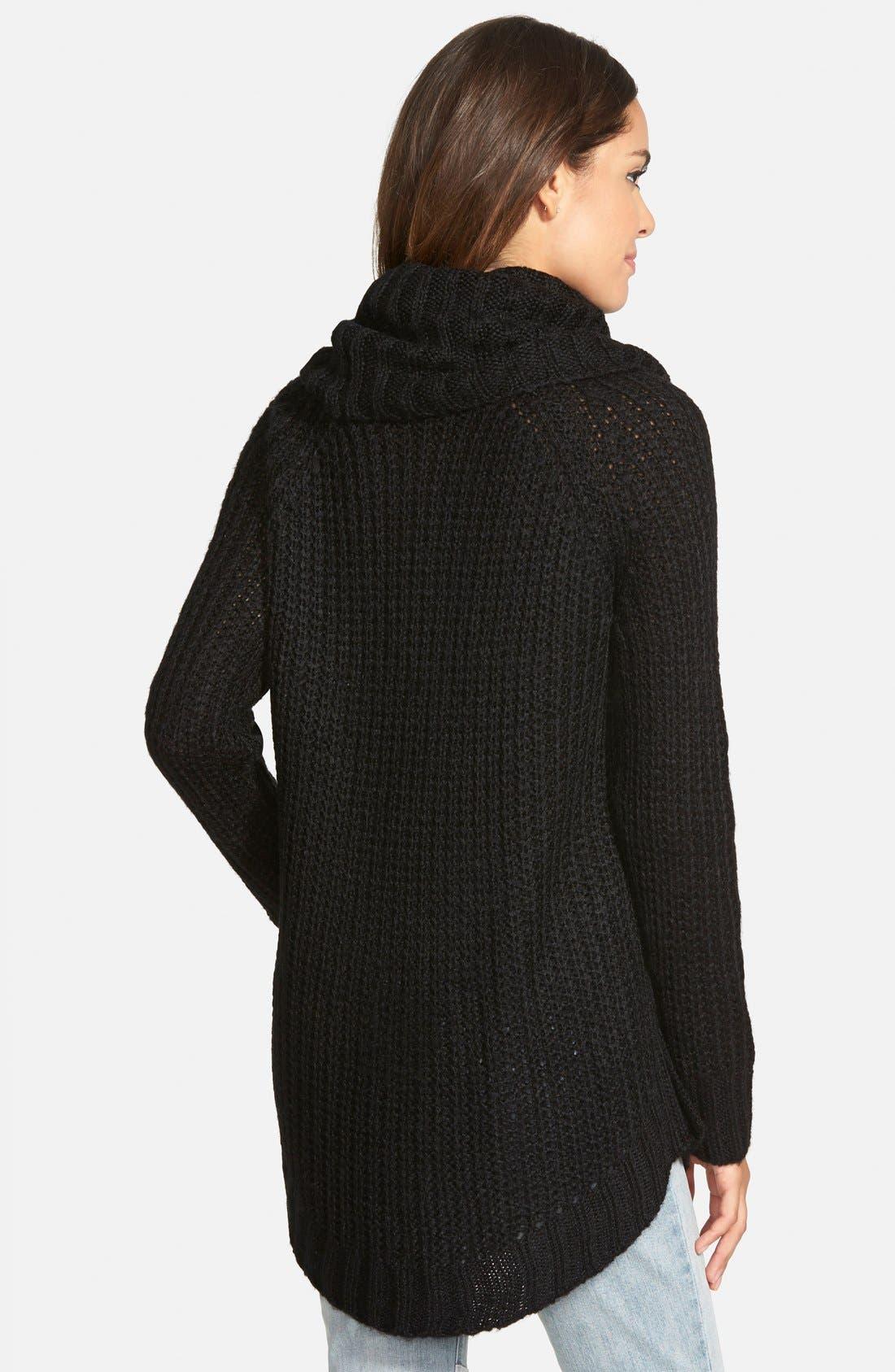 ,                             Cowl Neck Sweater,                             Alternate thumbnail 9, color,                             001