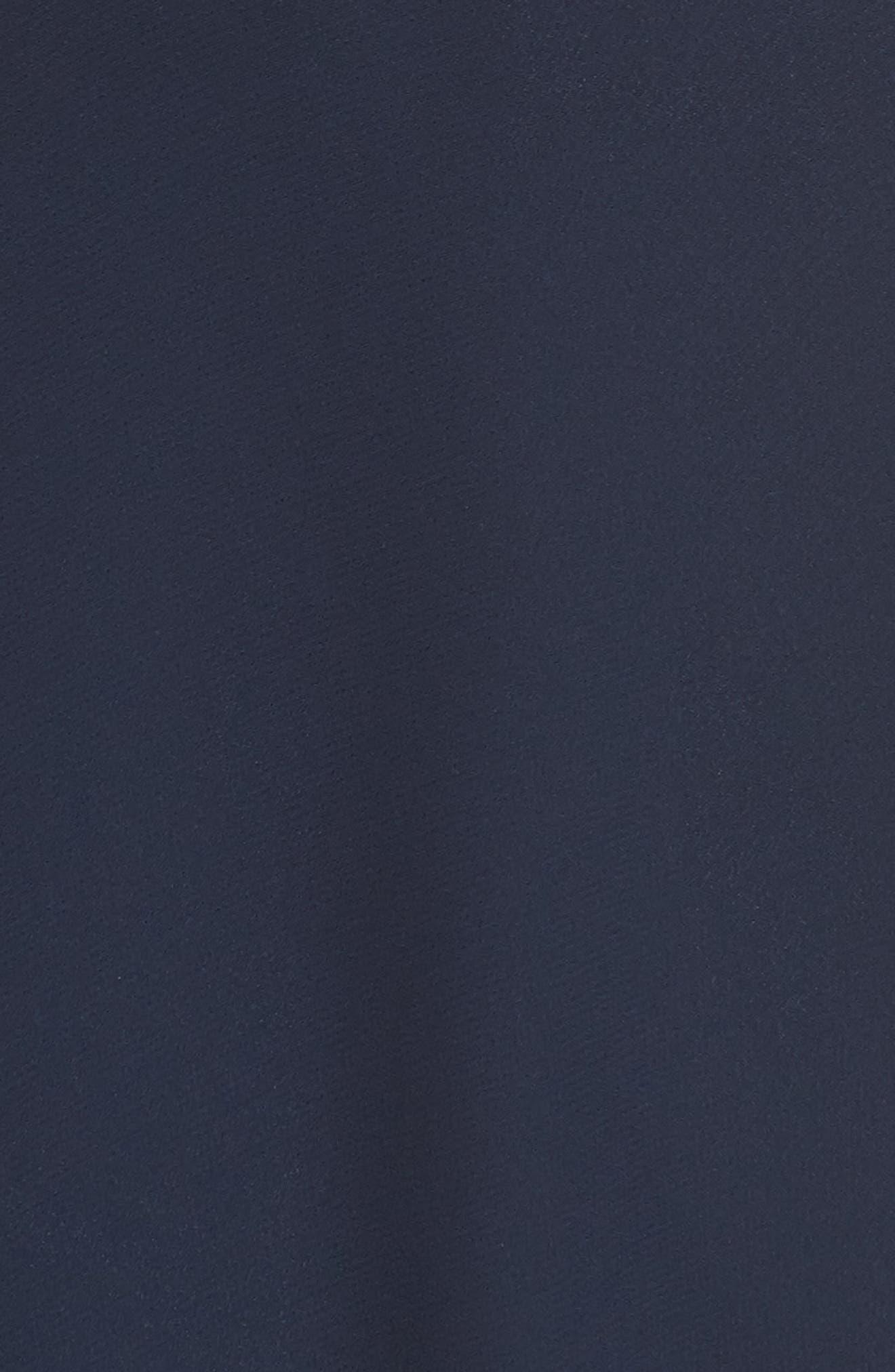 ,                             Kiara Bow Back Chiffon Evening Dress,                             Alternate thumbnail 5, color,                             NAVY