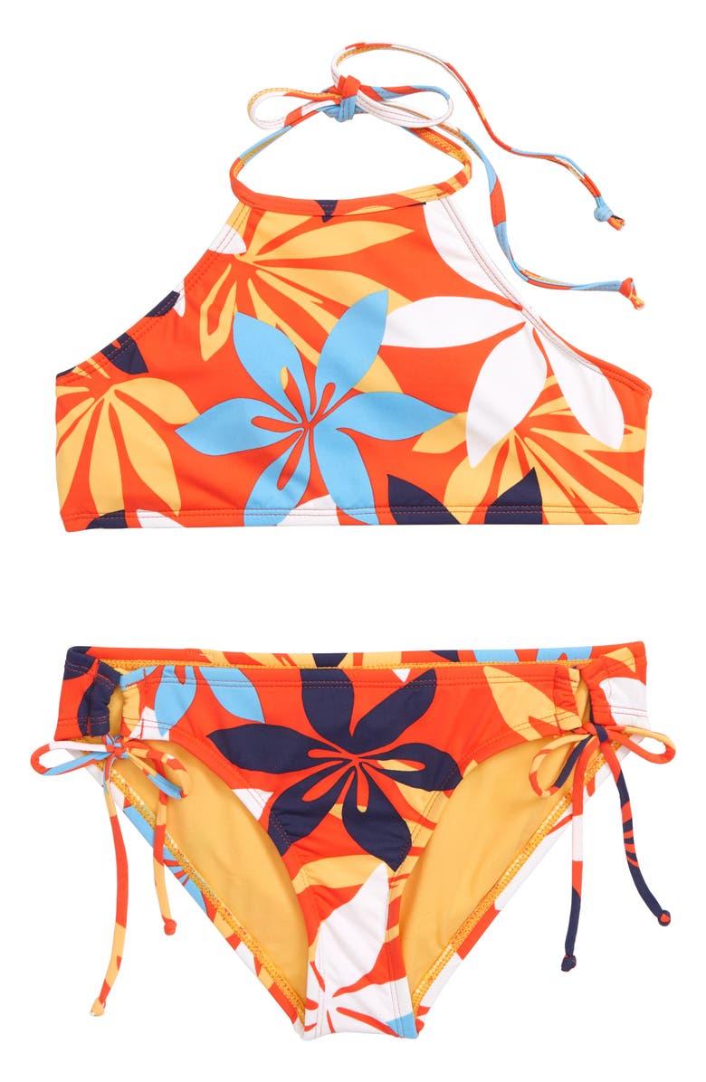 HOBIE Bloomy Halter Two-Piece Swimsuit, Main, color, 950