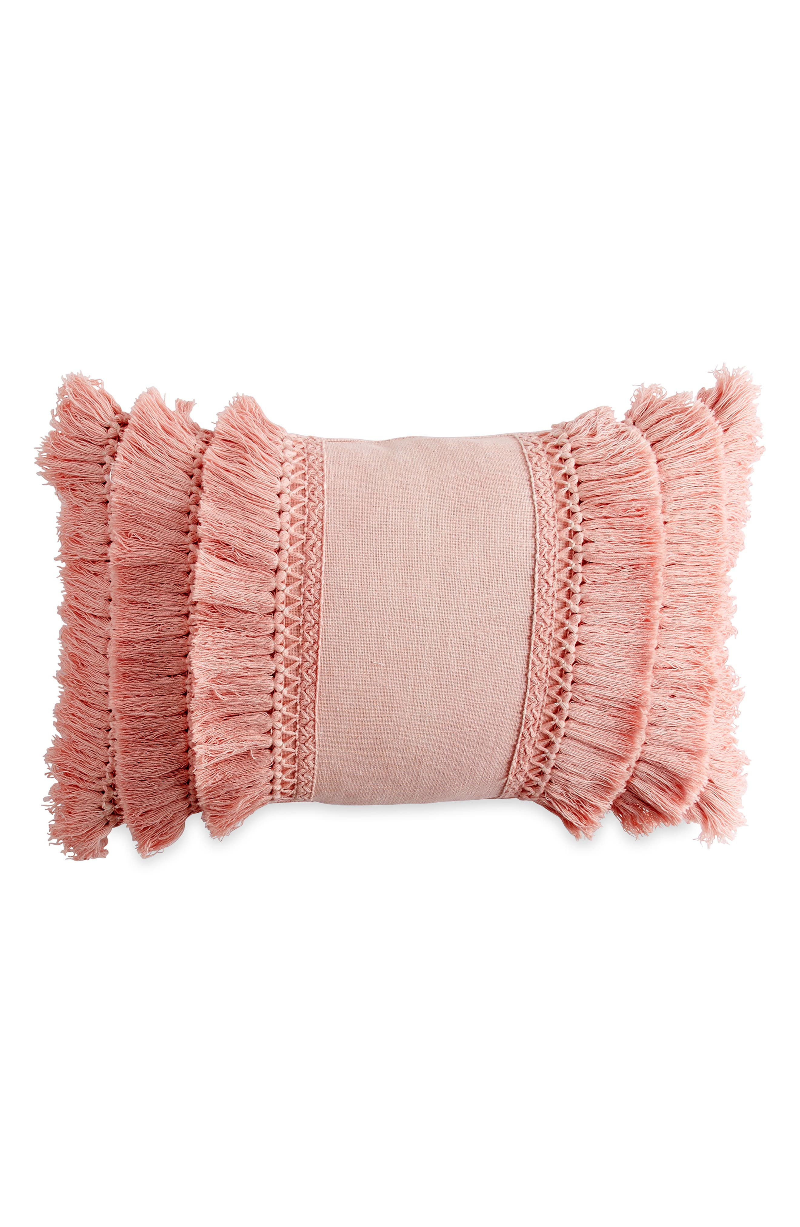 Tiered fringe makes this plush accent pillow a vintage-chic addition to your bedroom decor. Style Name: Peri Home Fringe Pillow. Style Number: 5367401. Available in stores.