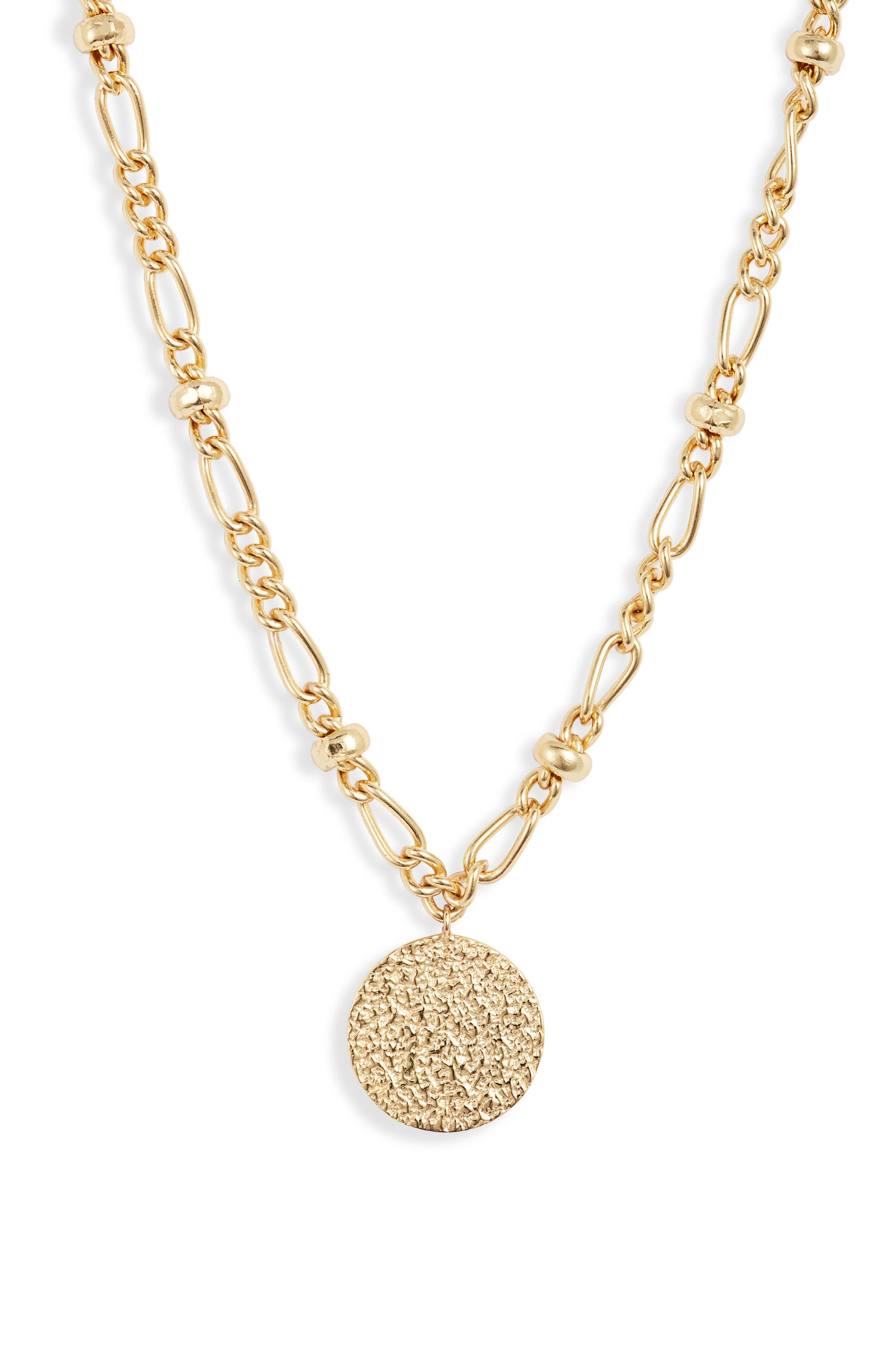 Banks Coin Pendant Necklace