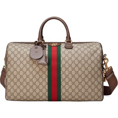 Gucci Medium Ophidia Gg Supreme Carry-On Duffle - Beige