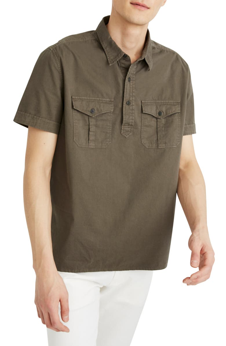 MADEWELL Safari Pullover Shirt, Main, color, DRIED CLOVER