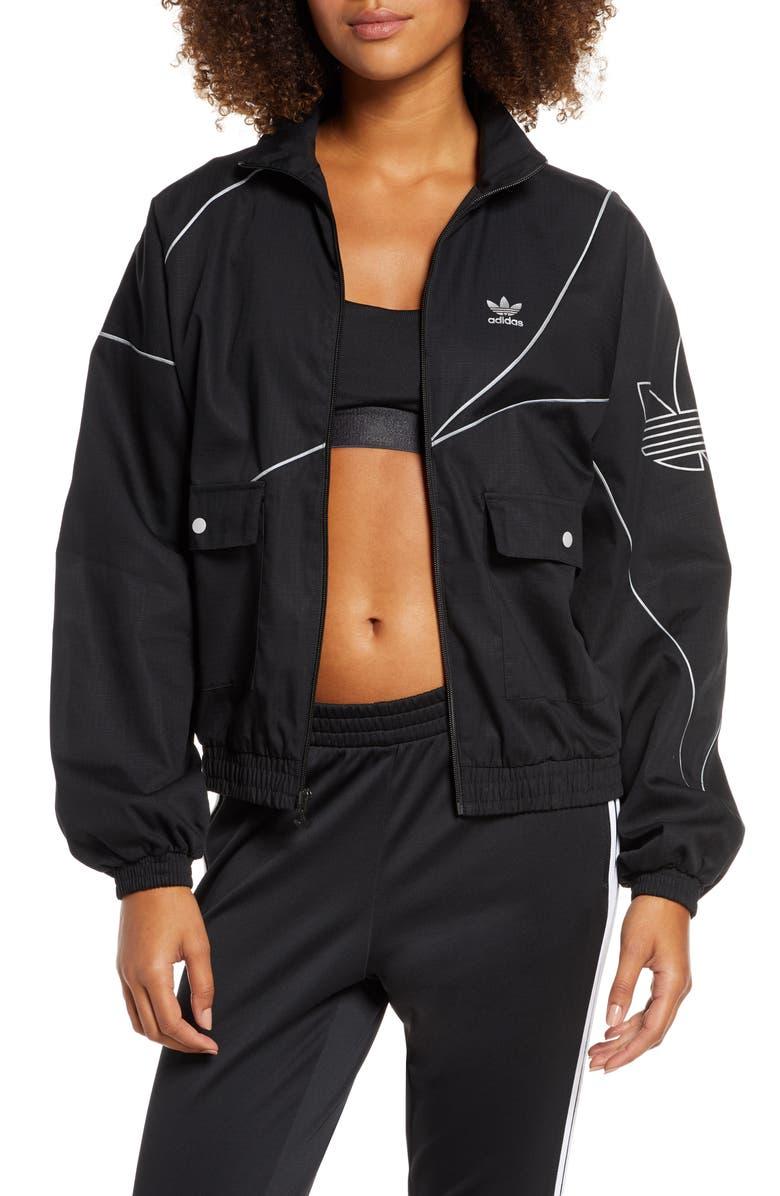 ADIDAS ORIGINALS Colorblock Track Jacket, Main, color, BLK/ REFLECT SLV/ MATTE SLV