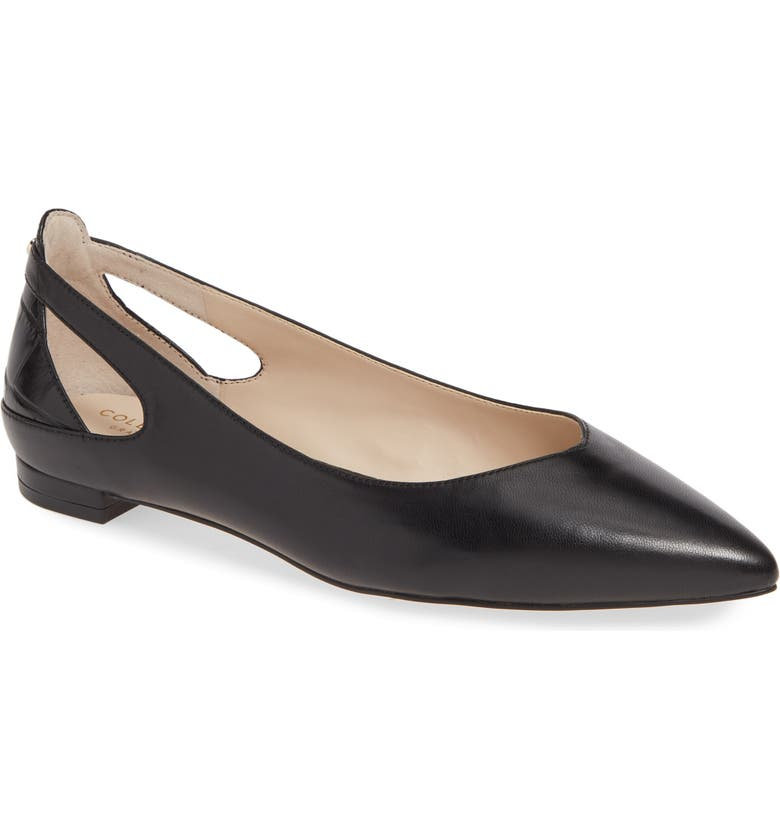 COLE HAAN Ramsey Flat, Main, color, BLACK LEATHER