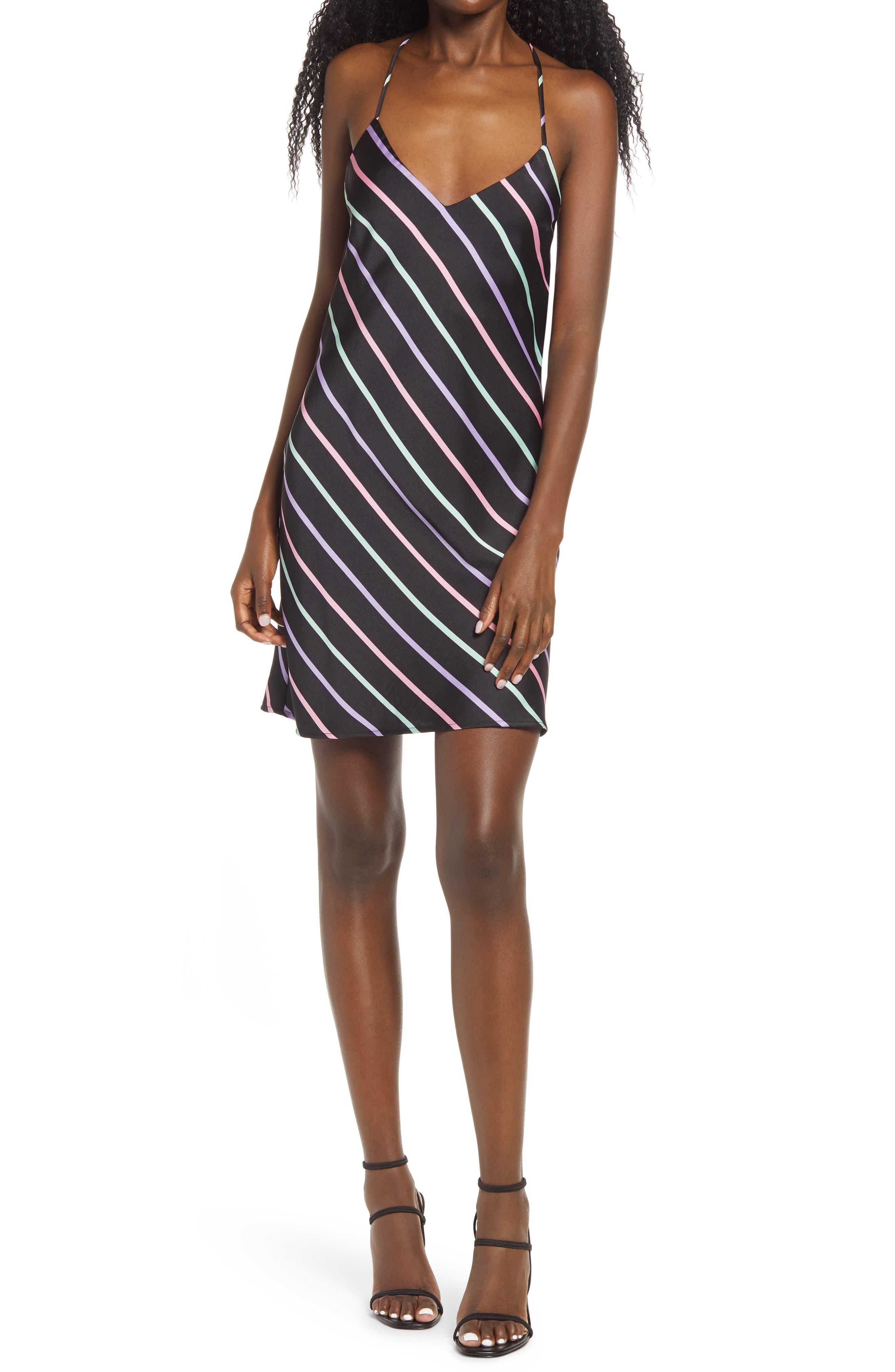 Image of WAYF Amina Cowl Back Mini Slipdress