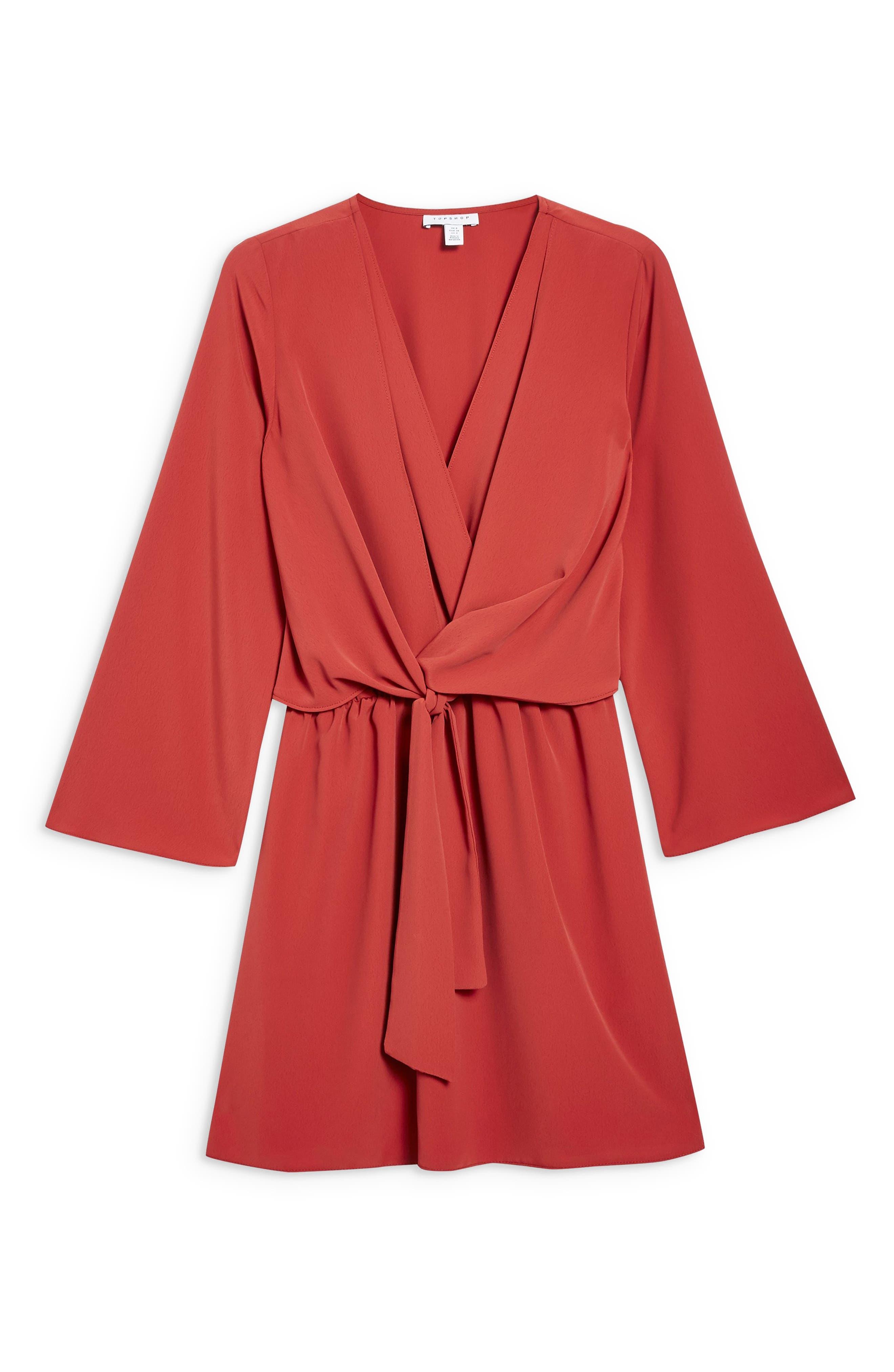 ,                             Tiffany Knot Minidress,                             Alternate thumbnail 4, color,                             RUST