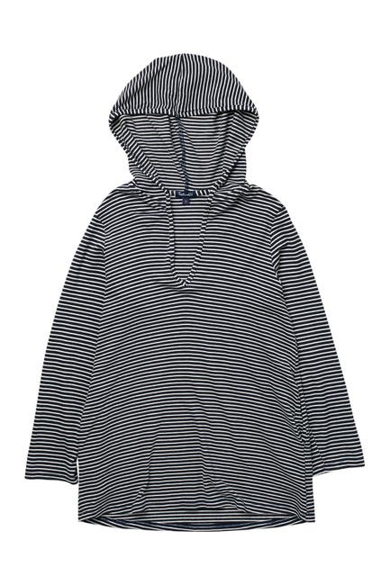 Image of Splendid Soft Sweet Striped Cover-Up Tunic Hoodie