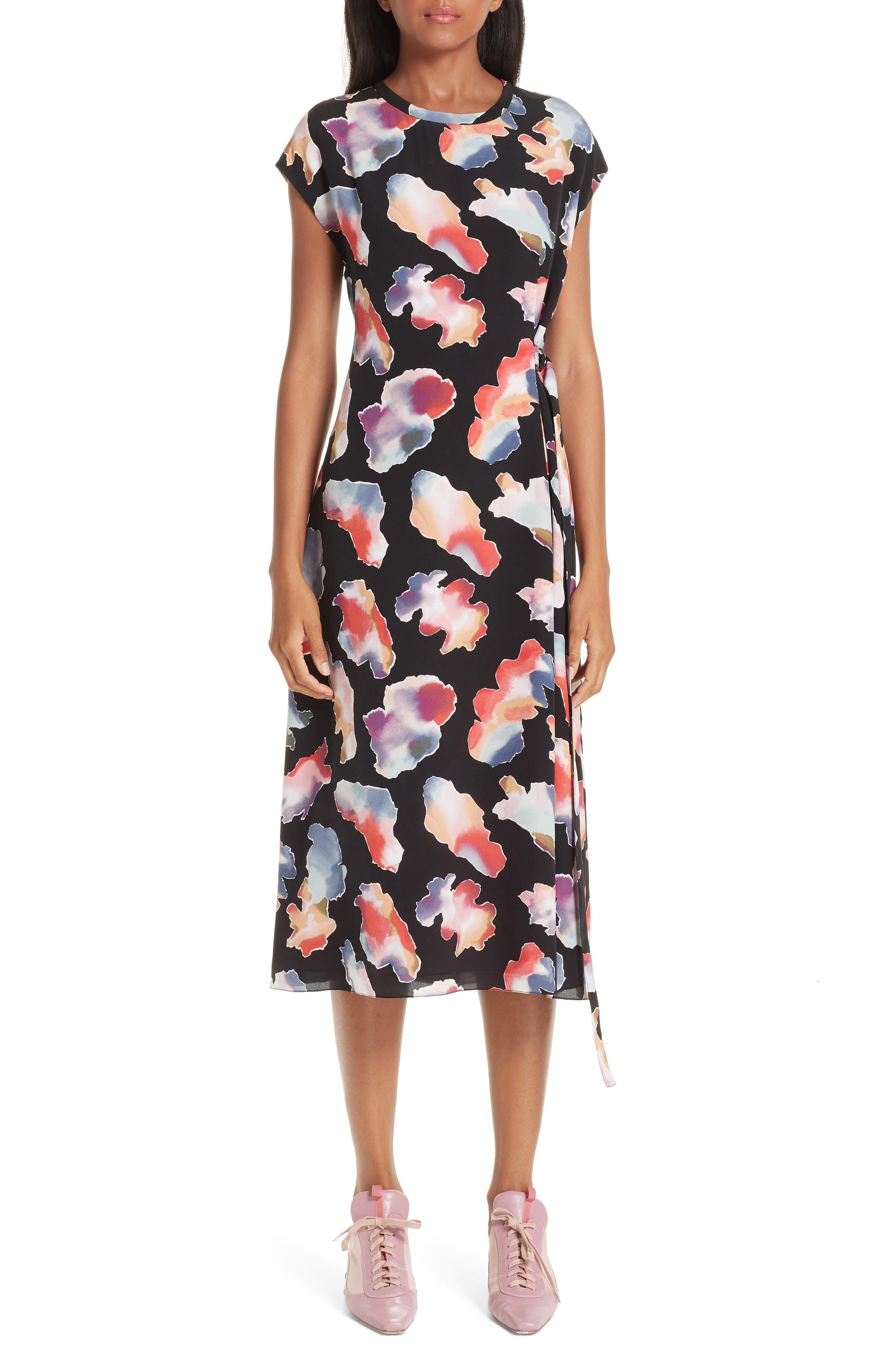 Sies Marjan Quinta Tie Dye Print Silk Dress