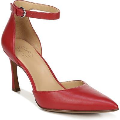 Naturalizer Aurelia Ankle Strap Pump, Red