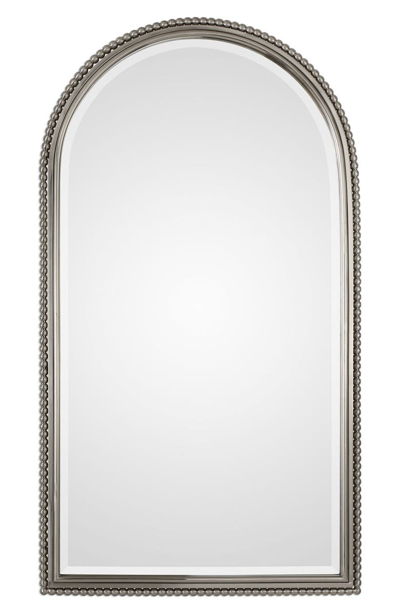 UTTERMOST Sherise Arch Nickel Mirror, Main, color, PLATED BRUSH NICKEL