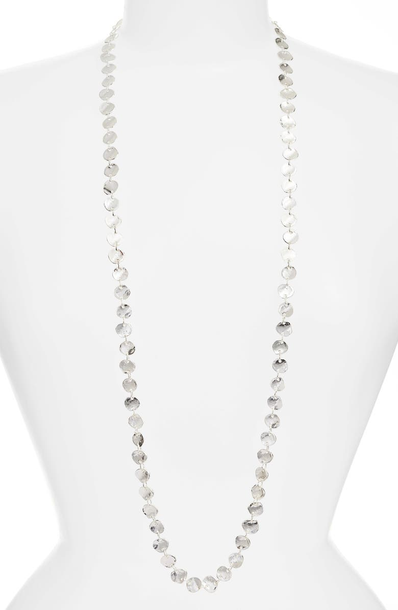 KARINE SULTAN Sophia Long Necklace, Main, color, SILVER