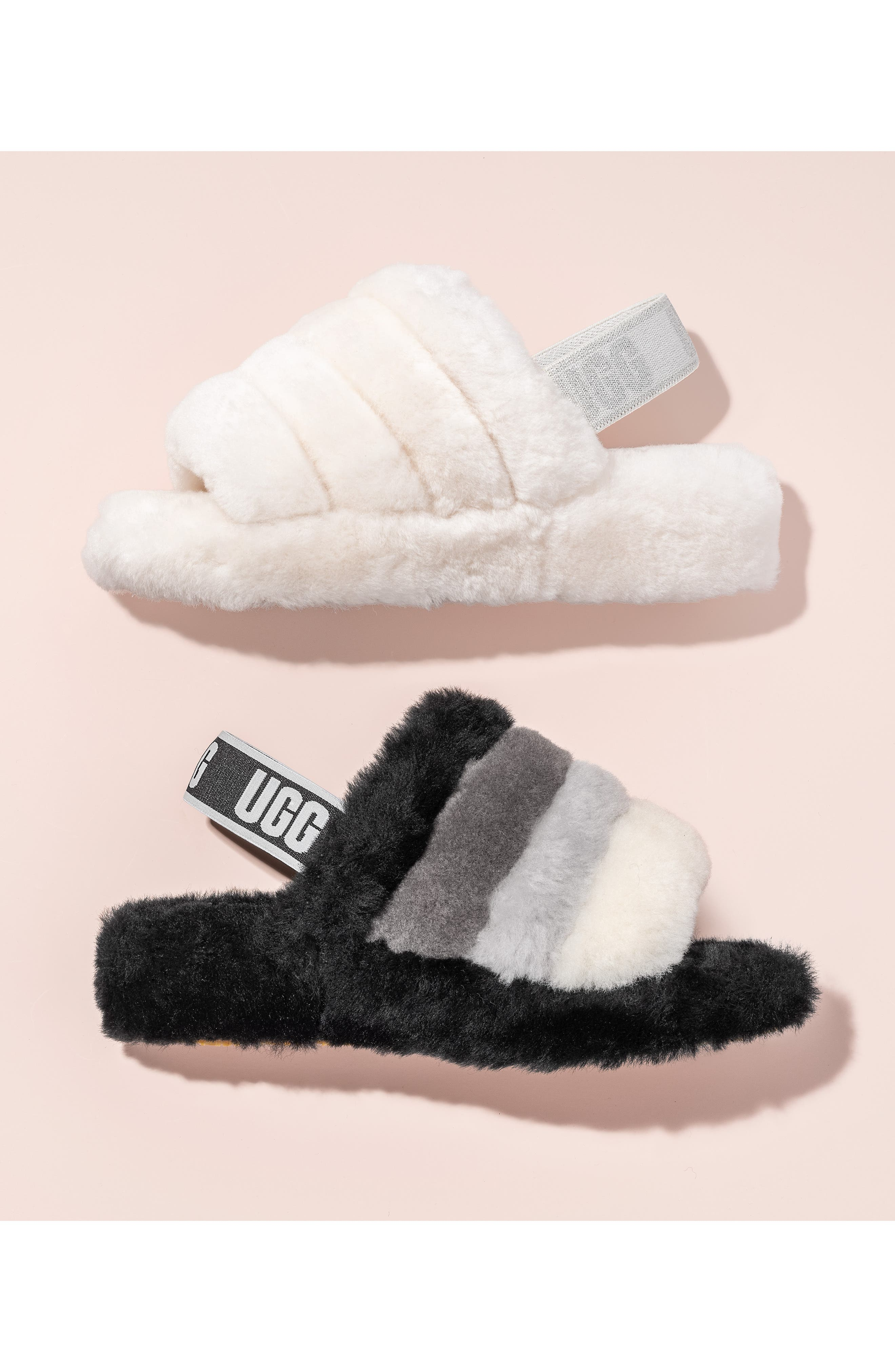 ,                             Fluff Yeah Genuine Shearling Slipper,                             Alternate thumbnail 6, color,                             CHARCOAL