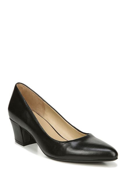 Image of Naturalizer Carmen Leather Block Heel Pump - Wide Width Available
