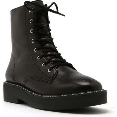 Schutz Mckenzie Lace-Up Boot- Black