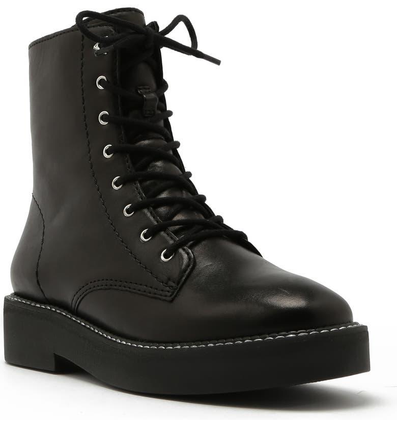 SCHUTZ McKenzie Lace-Up Boot, Main, color, BLACK LEATHER