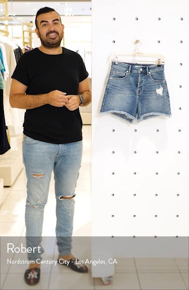 Bombshell Distressed Cutoff Denim Shorts, sales video thumbnail