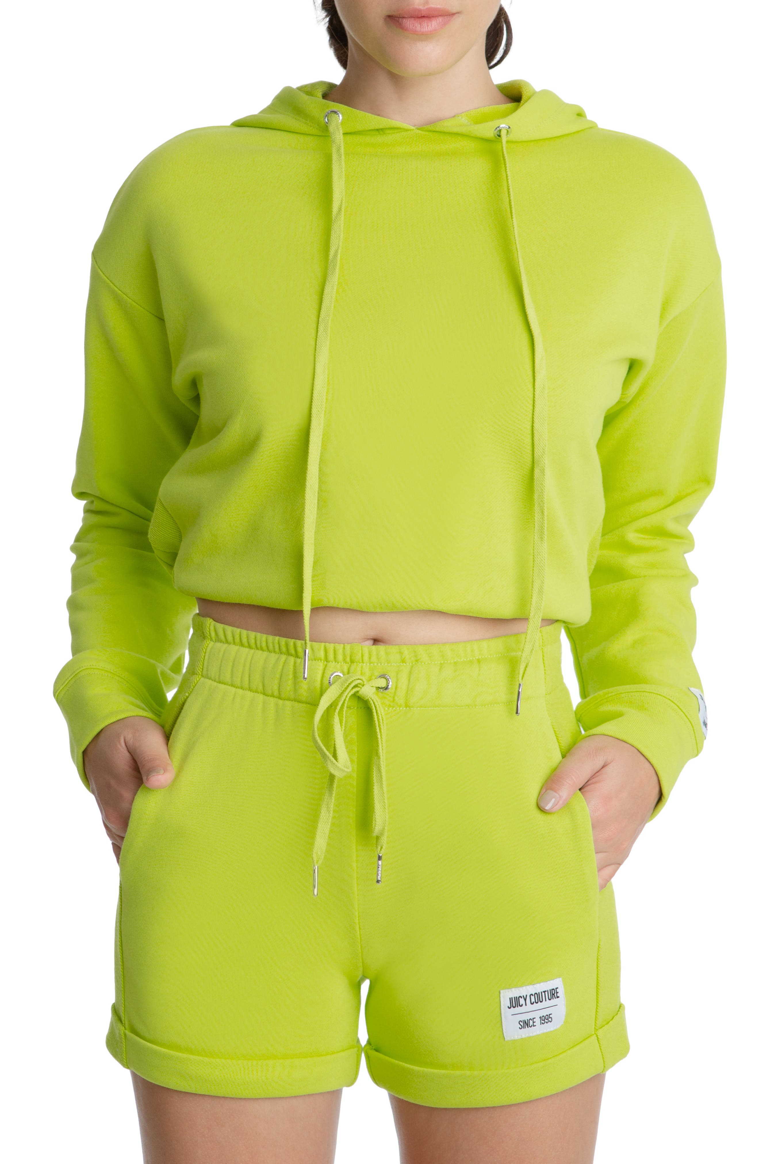Drawstring Bottom French Terry Hoodie