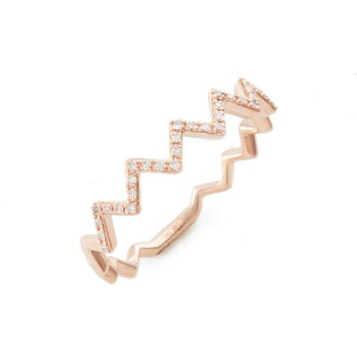 Ef Collection Zigzag Diamond Stack Ring