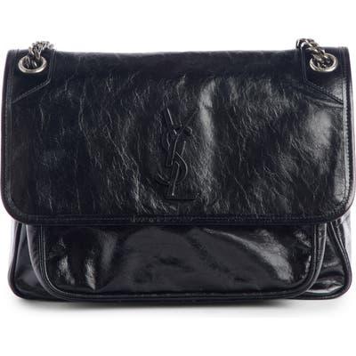 Saint Laurent Medium Niki Smooth Leather Shoulder Bag - Black
