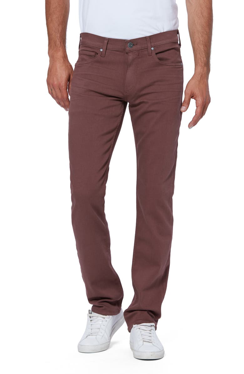 PAIGE Transcend Normandie Straight Leg Jeans, Main, color, TERRACOTTA CLAY