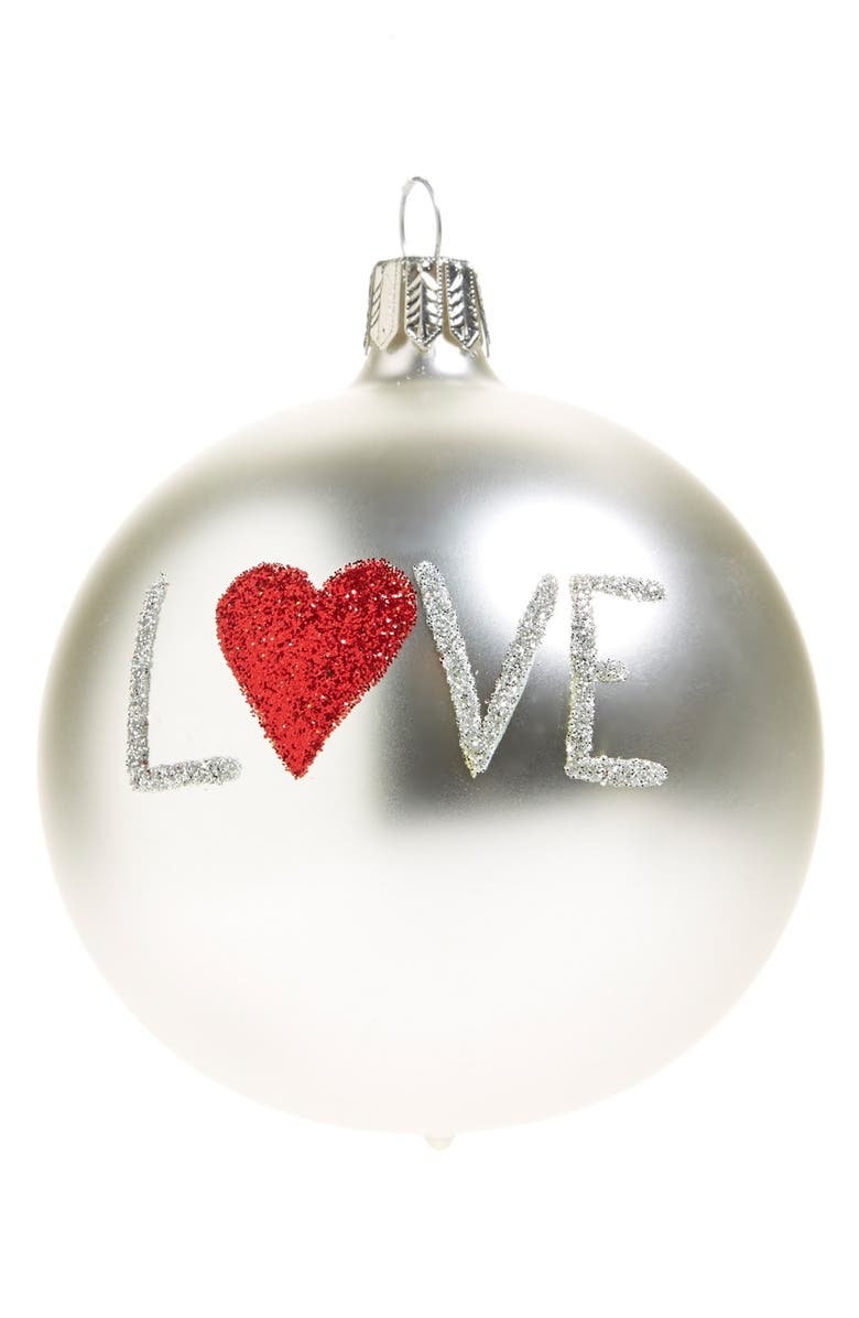 NORDSTROM AT HOME 'Love' Ornament, Main, color, 040