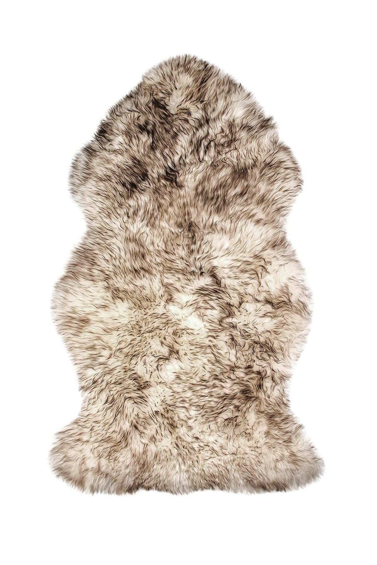 Image of Natural New Zealand Genuine Sheepskin Rug - 2ft x 3ft - Gradient Chocolate