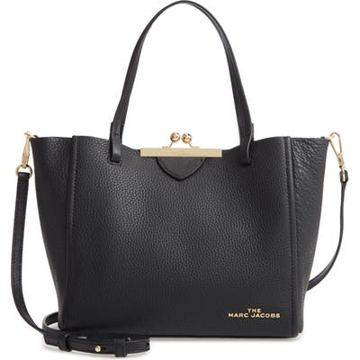 The Marc Jacobs The Kiss Lock Mini Leather Tote - Black
