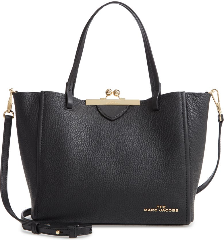 The Marc Jacobs The Kiss Lock Mini Leather Tote | Nordstrom