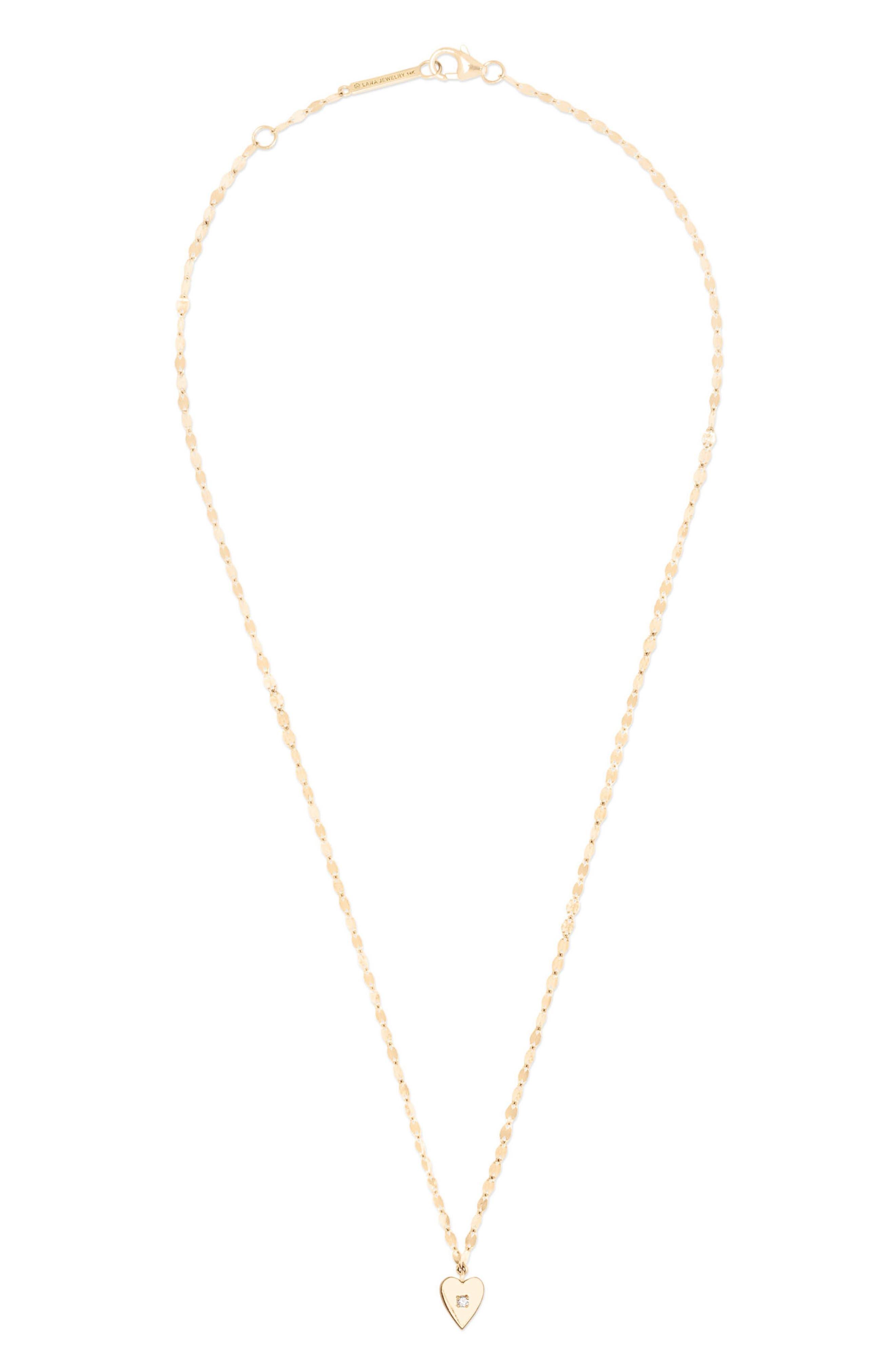 Solo Mini Heart Diamond Pendant Necklace