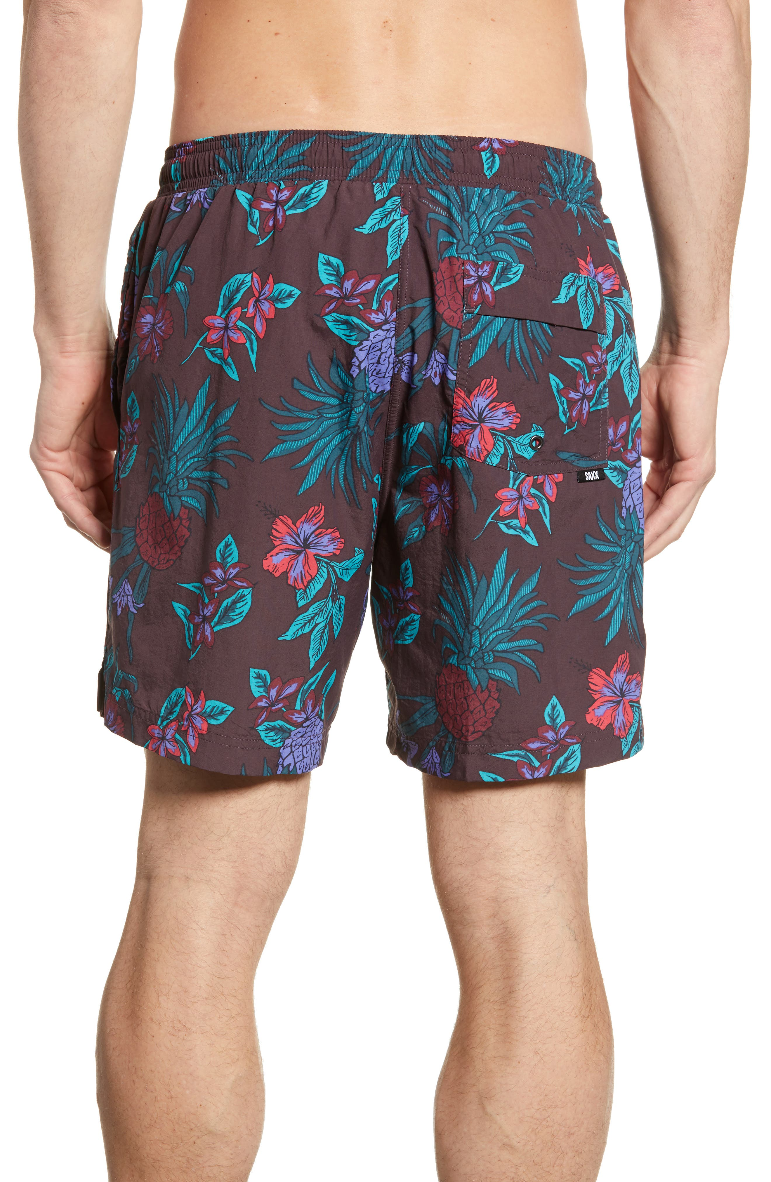 ,                             Pineapple Print Cannonball Swim Trunks,                             Alternate thumbnail 2, color,                             RED PINEAPPLE PARTY