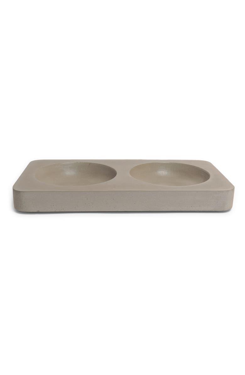 HEART + PAW Concrete Pet Bowl Stand, Main, color, CONCRETE