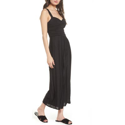 Ali & Jay First Fridays Sparkle Stripe Jumpsuit, Black