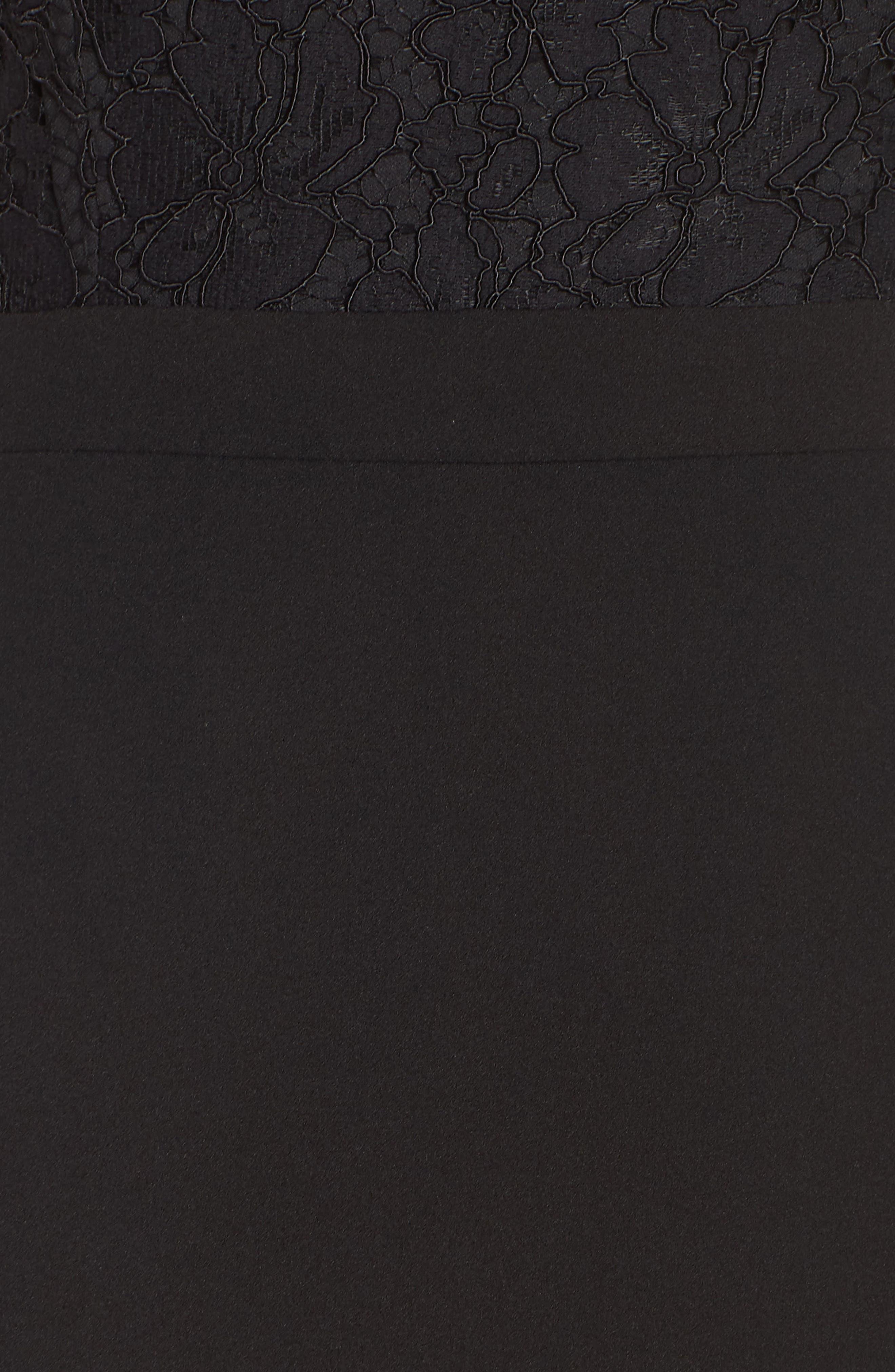 ,                             Lace Sheath Dress,                             Alternate thumbnail 5, color,                             BLACK