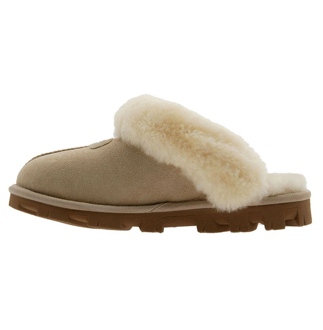 ,                             Genuine Shearling Slipper,                             Alternate thumbnail 187, color,                             SAN