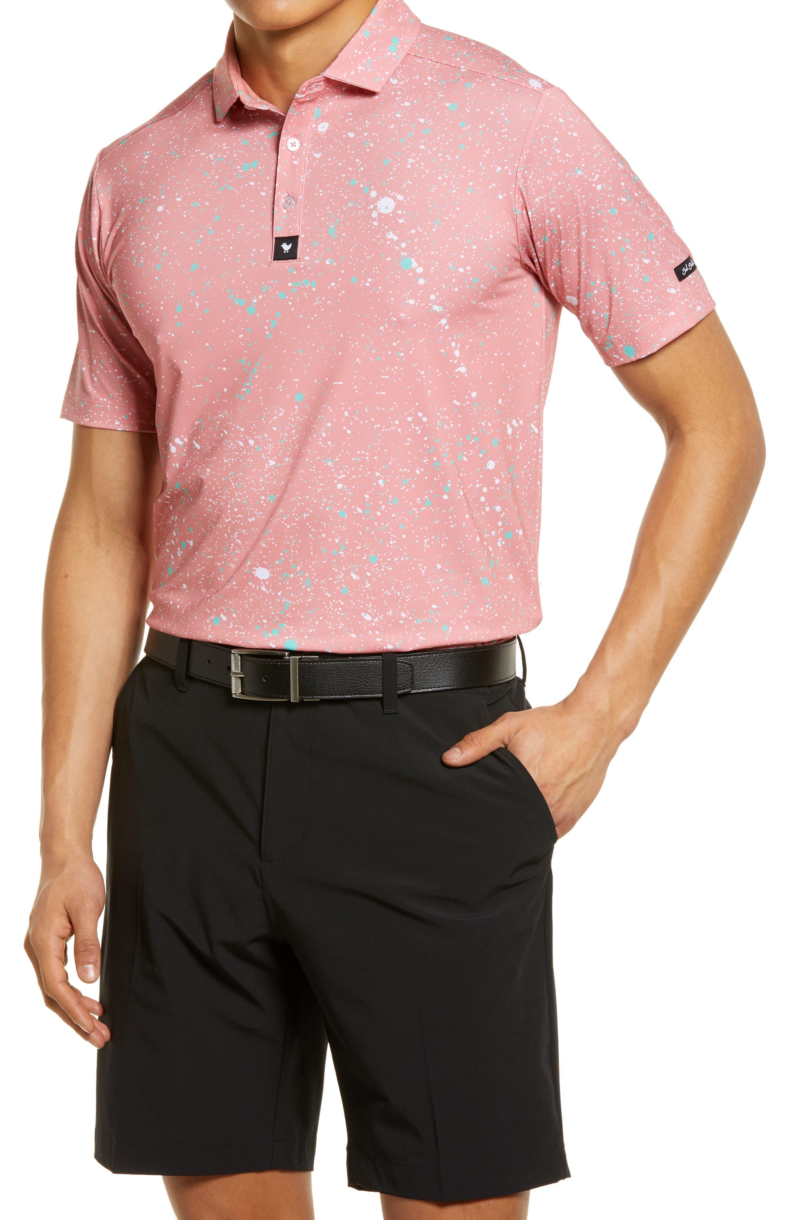 Paint Splatter 2 Print Jersey Short Sleeve Polo
