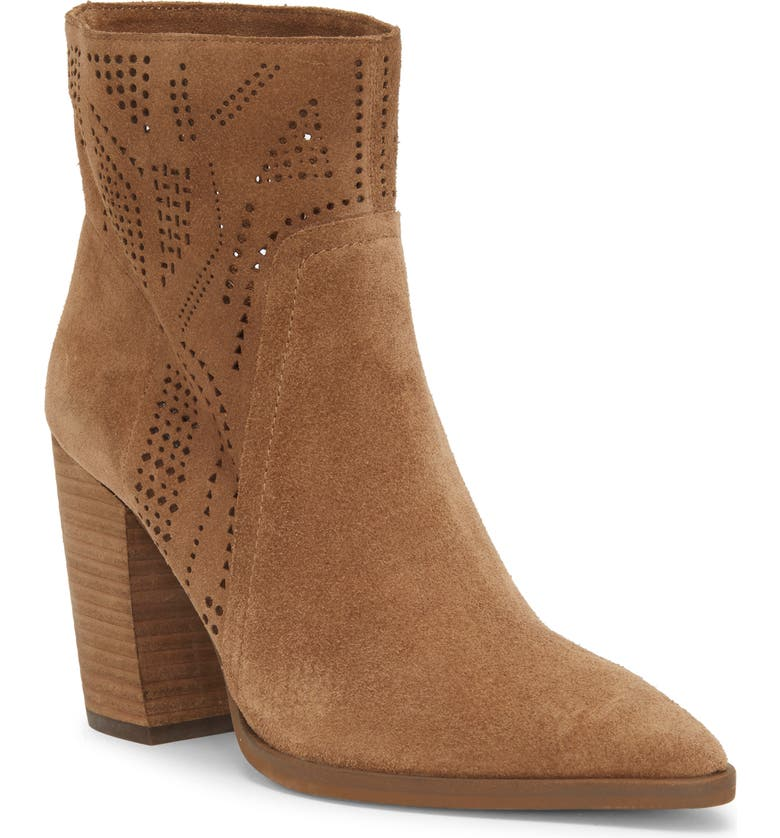 VINCE CAMUTO Catheryna Bootie, Main, color, BROWN MOSS SUEDE